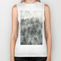 feathers Biker Tanks featuring Everyday by Tordis Kayma