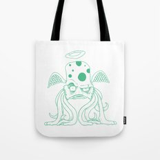 Space Alien Sci Fi art Lines Only by RonkyTonk Tote Bag