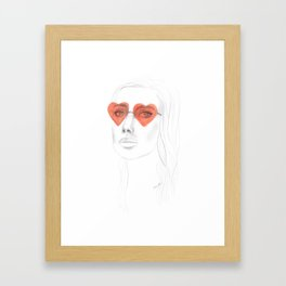Heart Sunglasses Framed Art Print