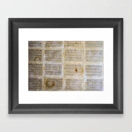 unplayed piano Framed Art Print