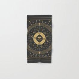 La Roue de Fortune or Wheel of Fortune Tarot Hand & Bath Towel