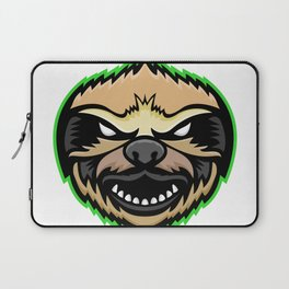 Angry Sloth Mascot Laptop Sleeve