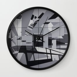 Cyan Twins Wall Clock