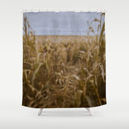 Blur Corn field Shower Curtain