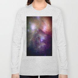 Galaxy : Pleiades Star Cluster NeBula Long Sleeve T-shirt