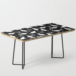 Skulls, Cats, Black and White, Pattern Coffee Table