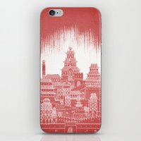mars iPhone & iPod Skins featuring Mars by David Fleck