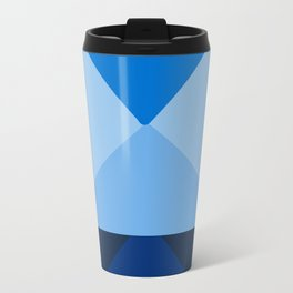 Geometric Blue Travel Mug