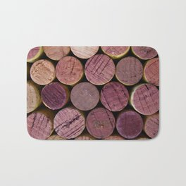 Red Wine Corks 2 Bath Mat