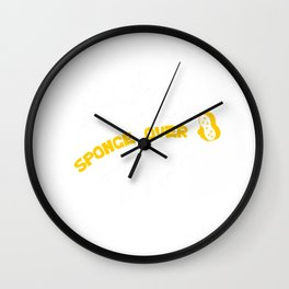 Cleaning Rinse Housekeeping Washing Sponge Over Funny Gift Wall Clock
