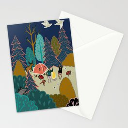 Welcome to Our Place in the Woods Stationery Cards