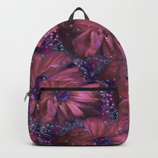Smoky pink poppy in the dew Backpack