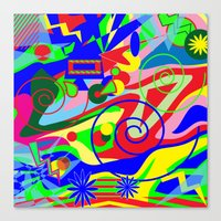 graffiti Canvas Prints featuring Graffiti by DesignsByMarly