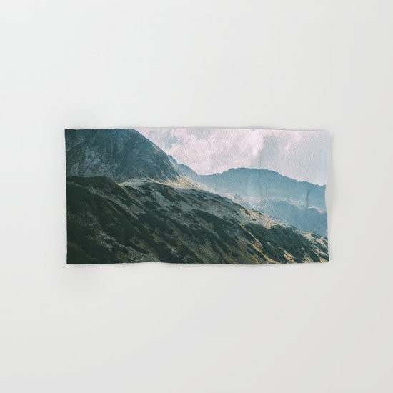 Moody Mountain Hill And Lake Hand & Bath Towel