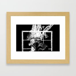 Ink and smoke Framed Art Print