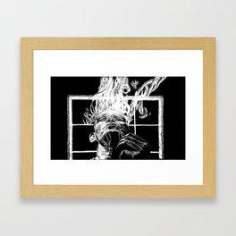 Ink and smoke Framed Art Print