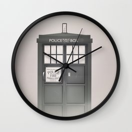 Vintage Police Box Wall Clock