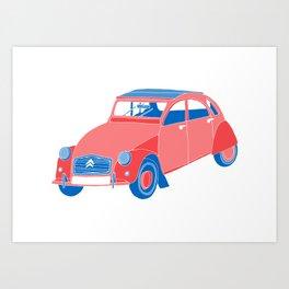 A French Car Art Print