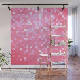 Bubblegum Pink Pixel Sparkle Wall Mural