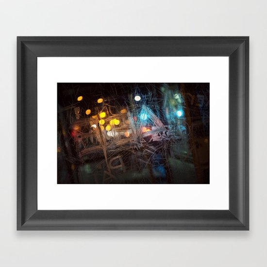 Scraped Framed Art Print