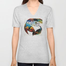 Parrot Head Art By Sharon Cummings Unisex V-Neck