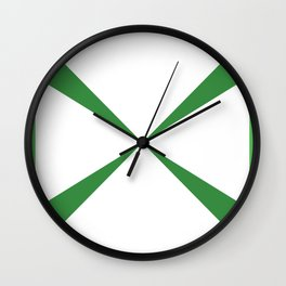 Simple Construction Green Wall Clock