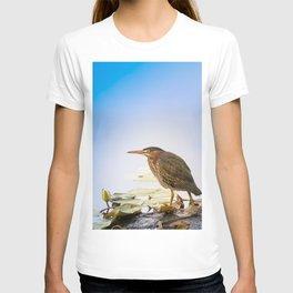 Crowned Night-Heron- Hammond pond T-shirt