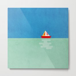 SOMETIMES YOU JUST NEED A BOAT - BLUE/GREEN/RED/YELLOW Metal Print