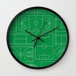 Sport Courts Pattern Art Wall Clock