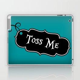 """Toss Me"" Alice in Wonderland styled Bottle Tag Design in 'Alice Blue' Laptop & iPad Skin"