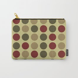 polka dots in green and maroon Carry-All Pouch
