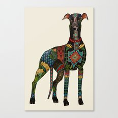greyhound ivory Canvas Print