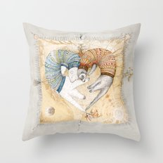 Ferret love Throw Pillow