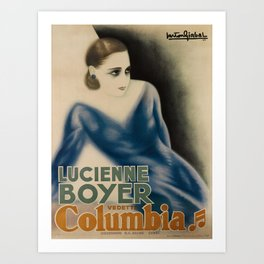 lucienne boyer   columbia. 1933  poster Art Print