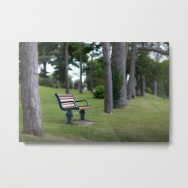 Remembrance bench Metal Print