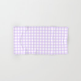 Lavender Gingham Hand & Bath Towel