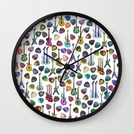 Rainbow Picks and Guitars Wall Clock