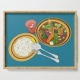 Yummy Soup Curry Serving Tray