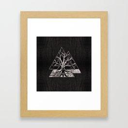 Valknut Symbol and Tree of life  -Yggdrasil Framed Art Print