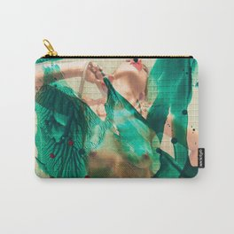 Smaragd shower - nude in bathroom Carry-All Pouch