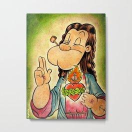Popeye the Savior Man Metal Print