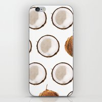 coconut wishes iPhone & iPod Skins featuring Coconut by GOLDASTIC
