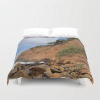 hawaiian Duvet Covers featuring Hawaiian Cliffs by Riaora Creations