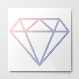 Shining Diamond - Carat Metal Print