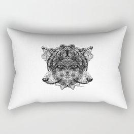 Odin's Wolves Geri and Freki Rectangular Pillow