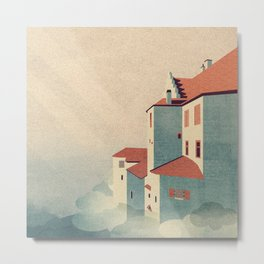 Castle in the Sky Metal Print