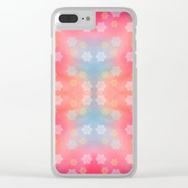 Funny Winter Background Pattern Clear iPhone Case