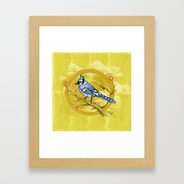 Blue Jay Iris Framed Art Print
