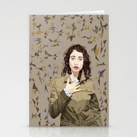regina mills Stationery Cards featuring Regina Spektor by Iany Trisuzzi