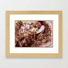 Deep Daze by MaxillaMellifer, aka Rosemary Knowles Framed Art Print
